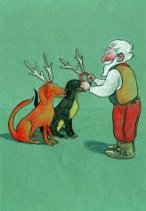 Santa and Dogadeer