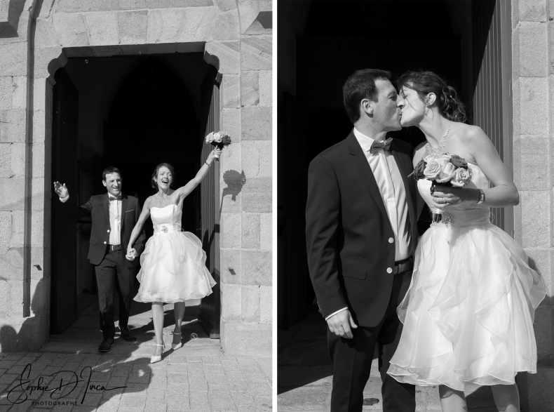 sortie église mariés Morbihan Sophie D'inca photographe Malestroit 56
