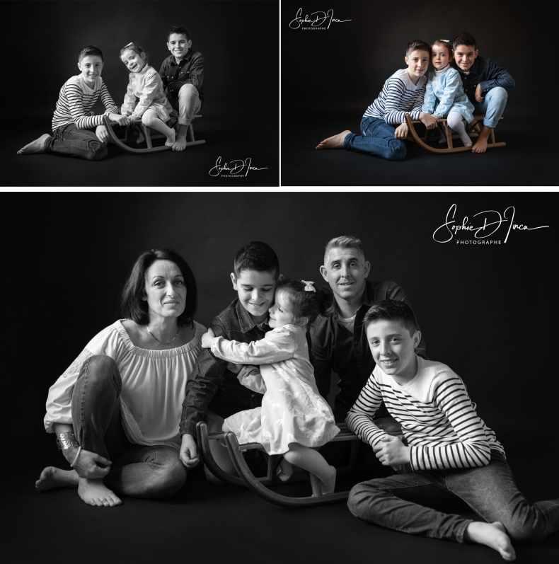 Séance photos de famille - souvenirs - album photos - Sophie d'Inca - Studio - Morbiahn