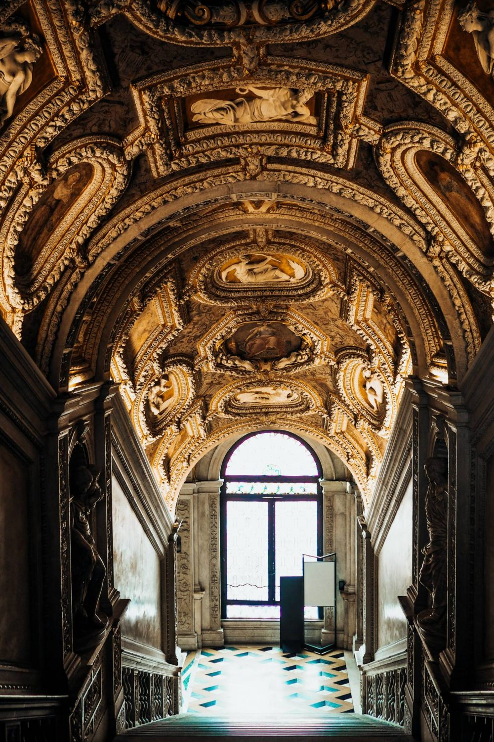 The Golden Staircase in Palazzo Ducale