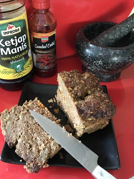 Pittig glutenvrij Indisch gehaktbrood