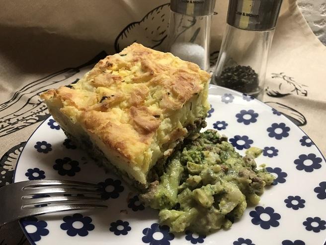 Bloemkool-broccoli ovenschotel met gehakt