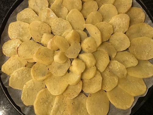 Aardappelpizza