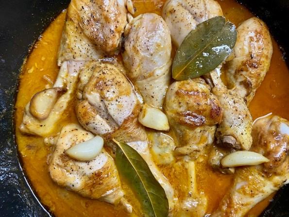 Spaanse knoflook kip