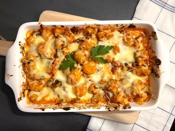 Italiaanse krieltjesschotel met kip
