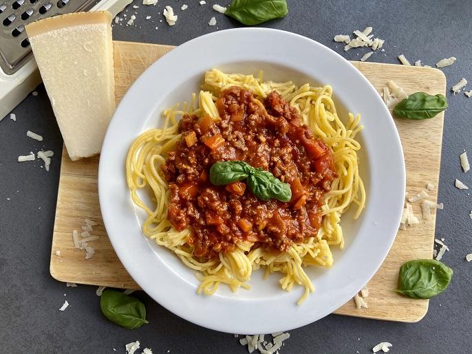 Spaghetti bolognese, de snelle variant
