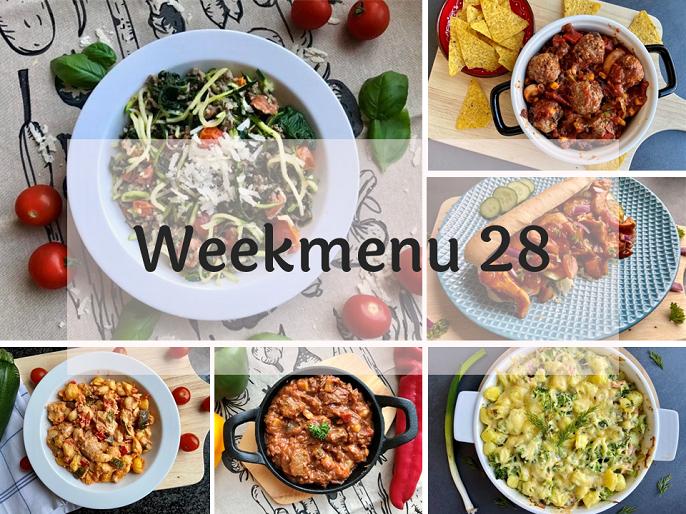 Glutenvrij weekmenu 2020-28