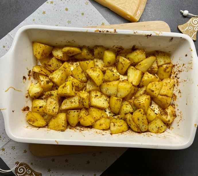 Aardappeltjes met Parmezaanse kaas uit de oven