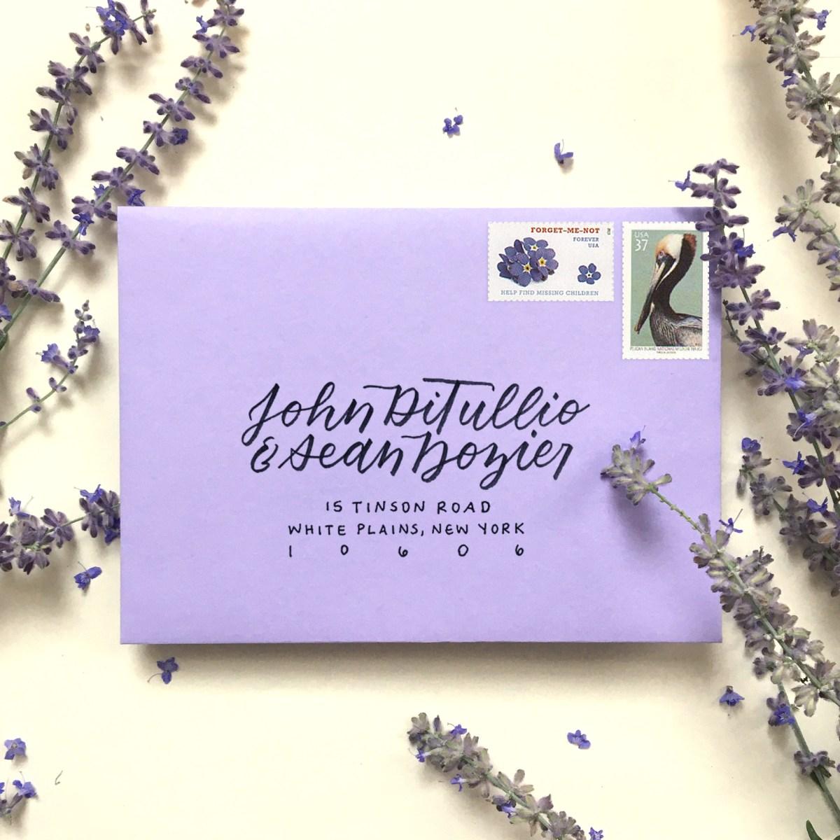 calligraphy envelope addressing sample