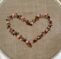 Ribbon Embroidery Heart by Kate Nowak 2014