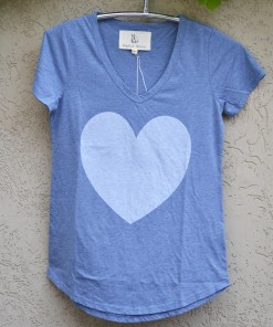 T'shirt chambray with heart