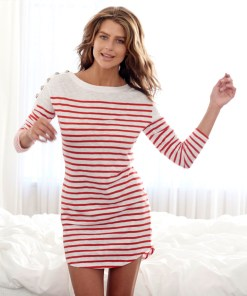 Nautical dress red and white