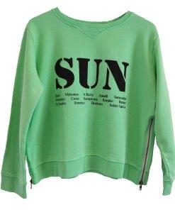 Zip sweater green sun