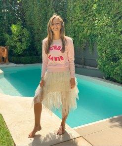 cashmere crew sweater pink