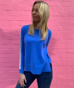 cobalt blue sweater