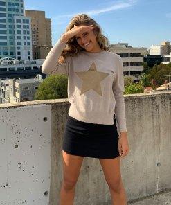 cotton cashmere natural sweater