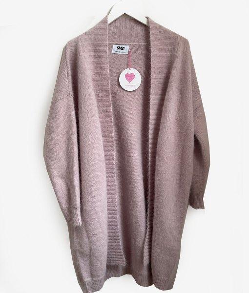 dirty pink angora cardigan