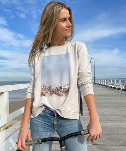 capri print sweater