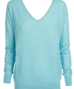 Mongolian Cashmere Sweater – Turquoise