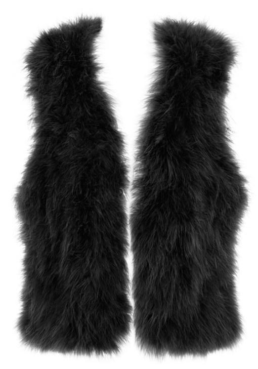 Black feather vest
