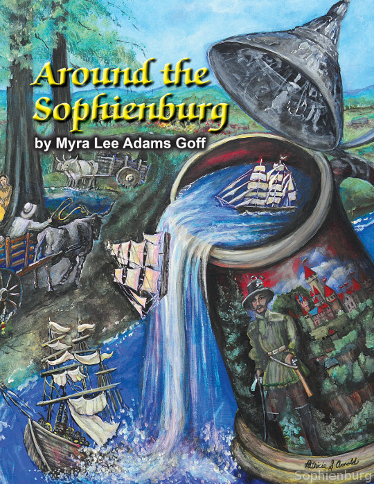 "Front cover of the new book ""Around the Sophienburg"" Artwork by Patricia S. Arnold."