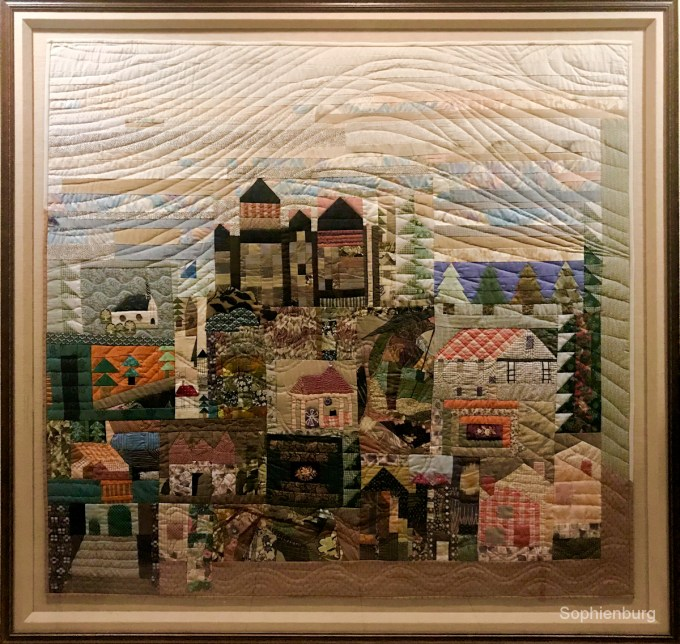 Quilt bestowed by the City of Braunfels, Germany, on the occasion of New Braunfels' 150th Anniversary in 1995.