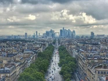 Parigi, vista dall'Arco di Trionfo