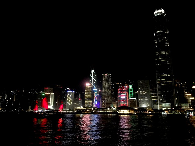 HK, Victoria Harbour by night