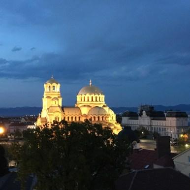 Sofia, Aleksandr Nevskij by night