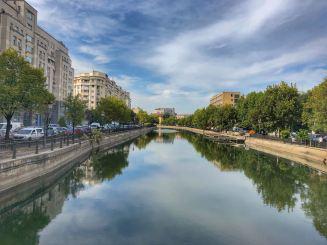 Bucarest, fiume Dambovita
