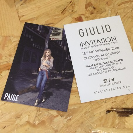 Current campaign star Rosie Huntington-Whiteley on the invitation
