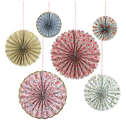 1. Meri Meri Liberty Print Pinwheel Decorations (£15)