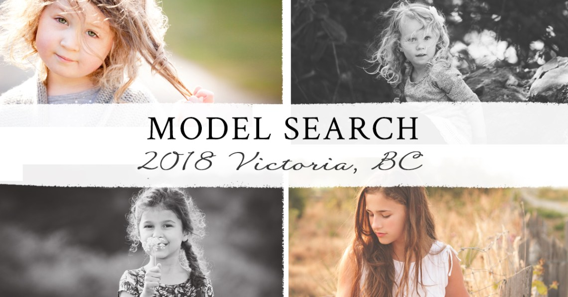 model Search Victoria BC 2018 girls 4 to 14