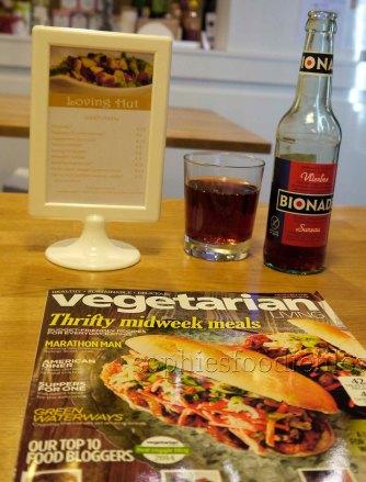 I sipped from my vegan Bionade elderflower drink!