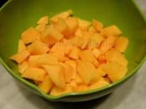 cut up home grown Musque de Provence pumpkin