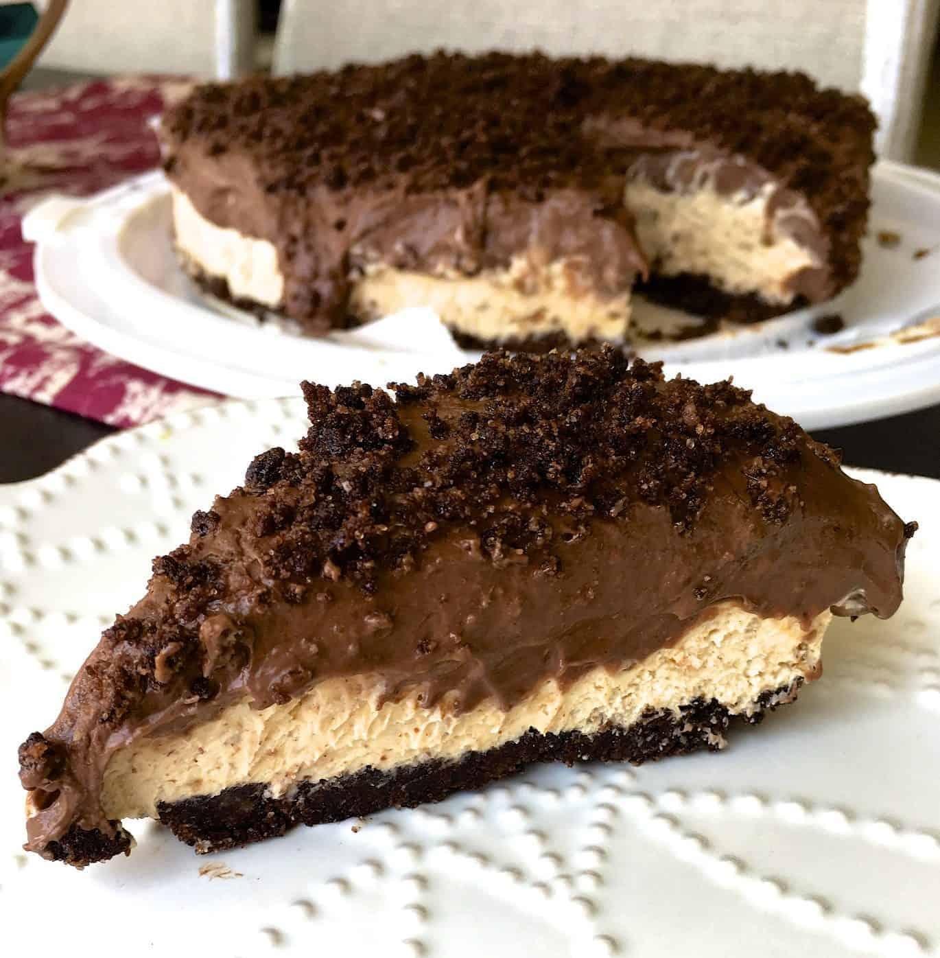 [生酮甜點] 免烤杏仁巧克力乳酪蛋糕(淨碳水< 5g)