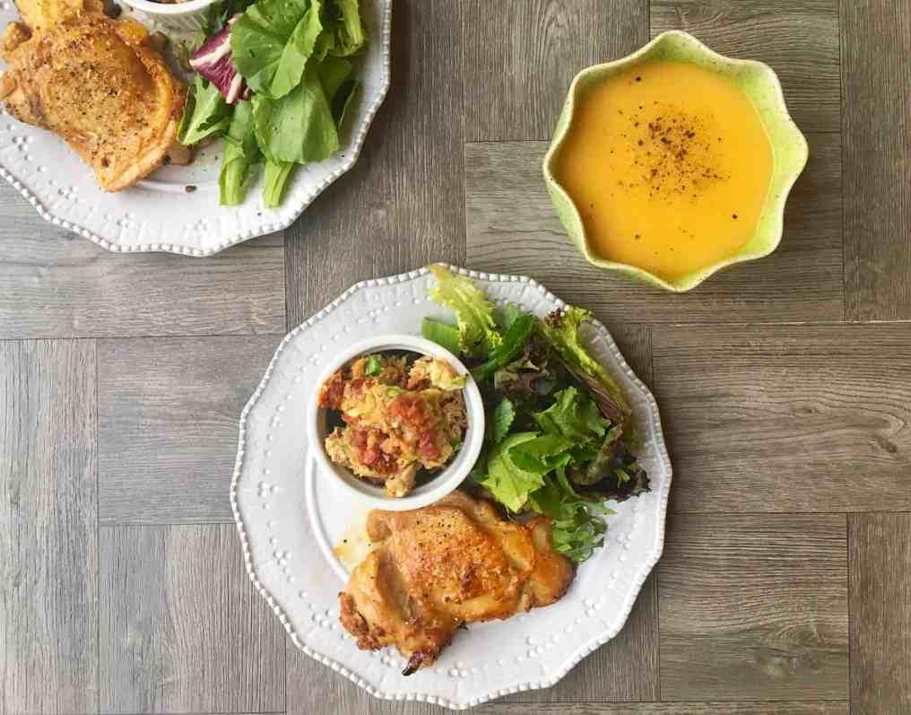 Teriyaki Chicken with Avocado Salad