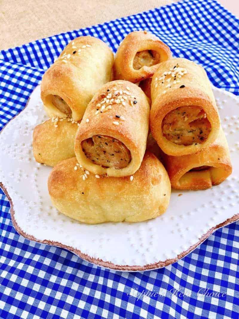 [生酮麵包] 迷你香腸麵包 Keto Sausage Bread Rolls- 免揉免發酵