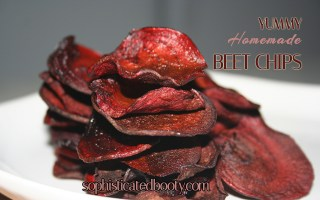 Yummy Homemade Beet Chips - Sophisticated Booty