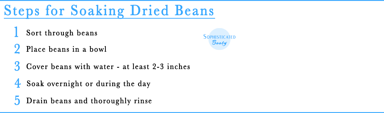 Steps for Soaking Dried Beans - Sophisticated Booty
