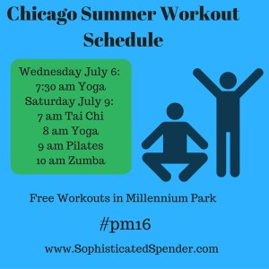 free, workout, chicago, summer, millenium park