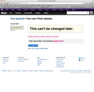 Updating Flickr name