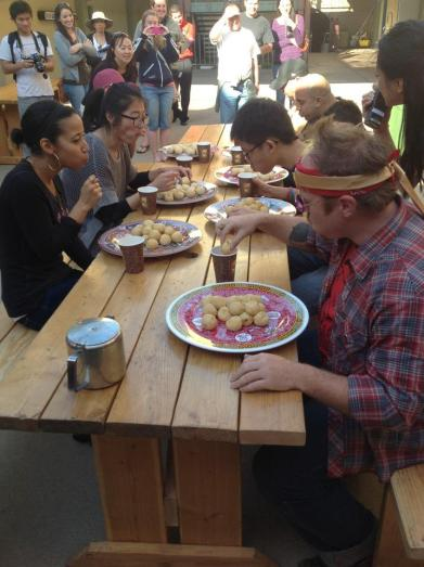 Sesame Balls Eating Contest