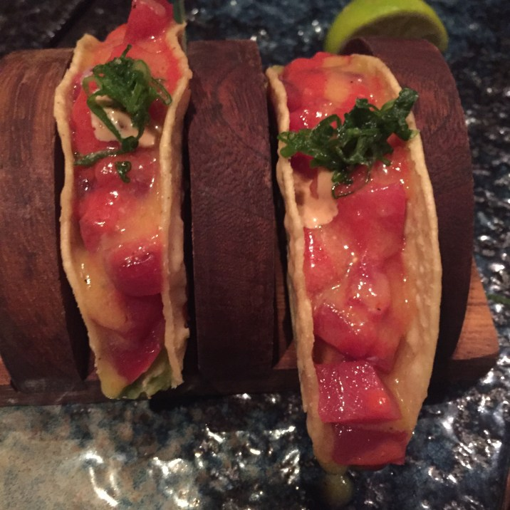 Second round- close up of the tuna, avocado taco- amazing!!