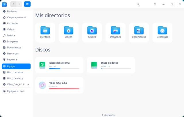 Gestor de archivos de Deepin OS 20 Beta
