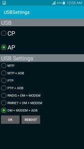 dm + modem ´adb