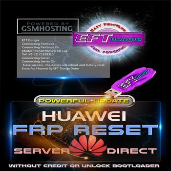 Actualización EFT Dongle Agregado eliminar FRP Huawei