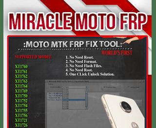 Miracle Box MOTO MTK FRP FIX TOOL 1.1