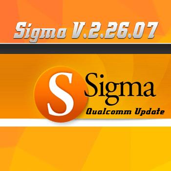 Actualización Sigma Software v.2.26.07