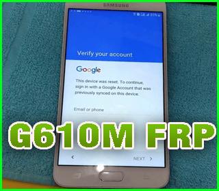 Frp Samsung G610m Nuevo parche de seguridad